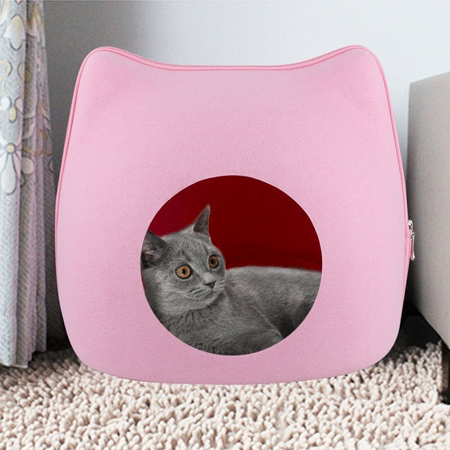 Cozy Cat-Shaped Cave Pink / Detail page display | CatToyz.com | Shop Cat Toys, Clothes, and Grooming Supplies