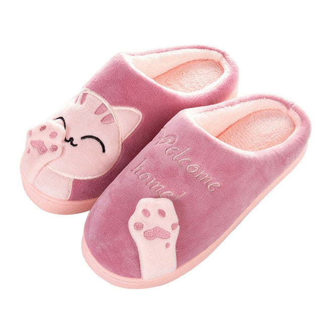 Women's Cozy Plush Cat Slippers Watermelon / 38 / CHINA | CatToyz.com | Shop Cat Toys, Clothes, and Grooming Supplies