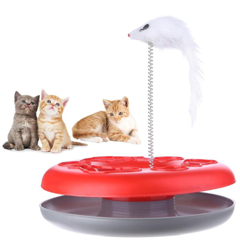 Mouse on a Spring Activity Disk Cat Toy  | CatToyz.com | Shop Cat Toys, Clothes, and Grooming Supplies