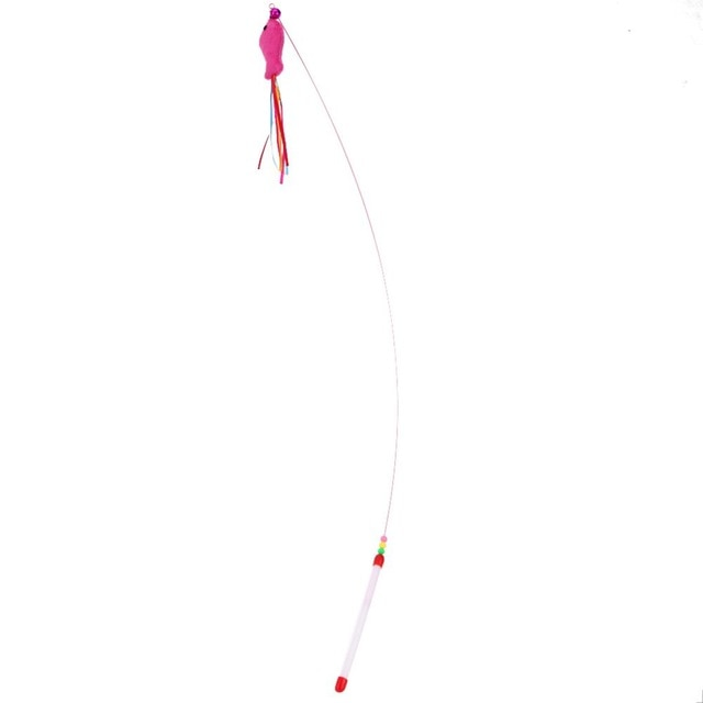 Colorful Teaser Cat Toy on Wand 10 | CatToyz.com | Shop Cat Toys, Clothes, and Grooming Supplies