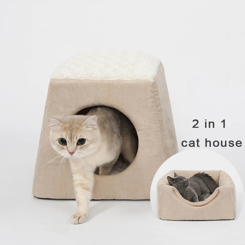 1-Cat House Bed! Plush, Soft, Warm, and Machine Washable  | CatToyz.com | Shop Cat Toys, Clothes, and Grooming Supplies
