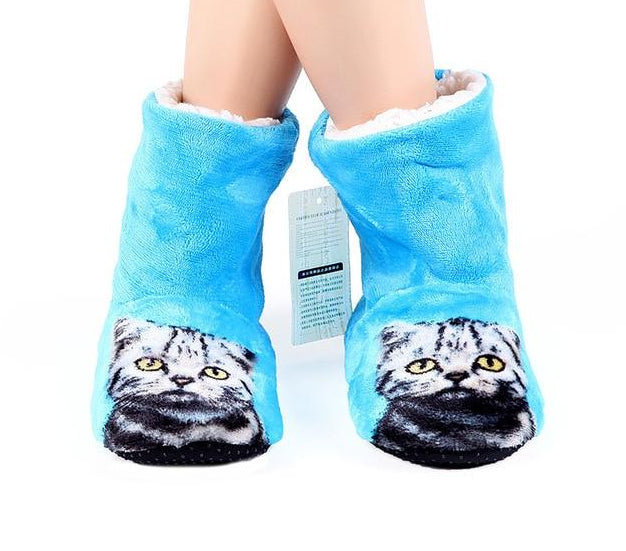 3D Cat Print Boot Style Slippers  | CatToyz.com | Shop Cat Toys, Clothes, and Grooming Supplies