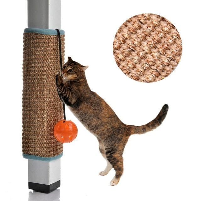 High Quality Sisal Cat Scratch Board with Ball Attached B sisal / 31x24cm | CatToyz.com | Shop Cat Toys, Clothes, and Grooming Supplies