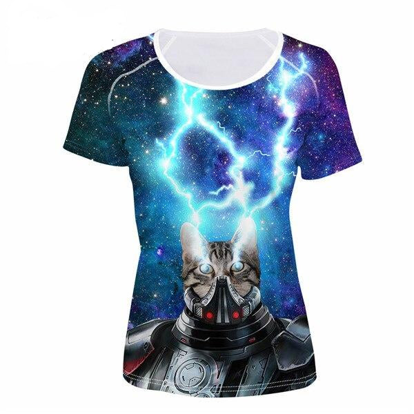 Women's Novelty 3D Cat Print T-Shirts! CC4326BV / S | CatToyz.com | Shop Cat Toys, Clothes, and Grooming Supplies