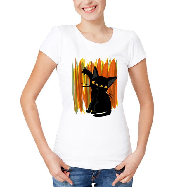 Performing Black Cat Caricature T-Shirts Naughty / S | CatToyz.com | Shop Cat Toys, Clothes, and Grooming Supplies