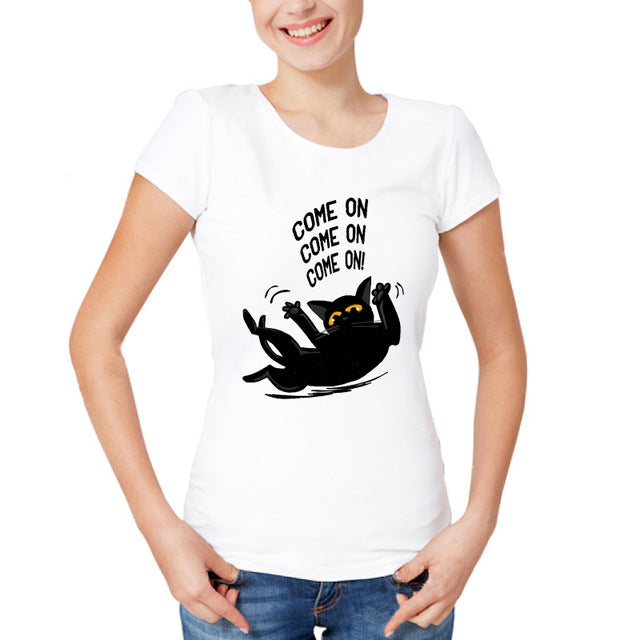 Performing Black Cat Caricature T-Shirts Come On / S | CatToyz.com | Shop Cat Toys, Clothes, and Grooming Supplies
