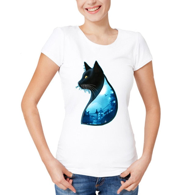 Performing Black Cat Caricature T-Shirts Wilderness / S | CatToyz.com | Shop Cat Toys, Clothes, and Grooming Supplies