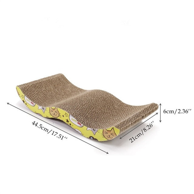 Cat Scratching Board Big-size Double-sided Durable Pet Scratcher & Bed as picture 2 / M / China | CatToyz.com | Shop Cat Toys, Clothes, and Grooming Supplies