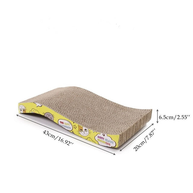 Cat Scratching Board Big-size Double-sided Durable Pet Scratcher & Bed as picture 1 / M / China | CatToyz.com | Shop Cat Toys, Clothes, and Grooming Supplies