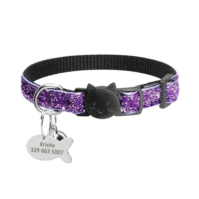 Safety Breakaway Cat Collars with Quick Release Bling Purple / neck for 20 to 31cm | CatToyz.com | Shop Cat Toys, Clothes, and Grooming Supplies