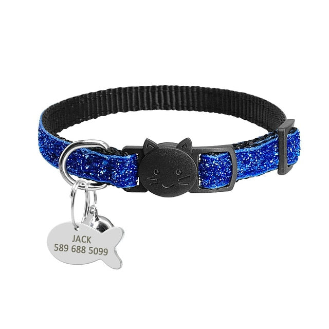 Safety Breakaway Cat Collars with Quick Release Bling Blue / neck for 20 to 31cm | CatToyz.com | Shop Cat Toys, Clothes, and Grooming Supplies