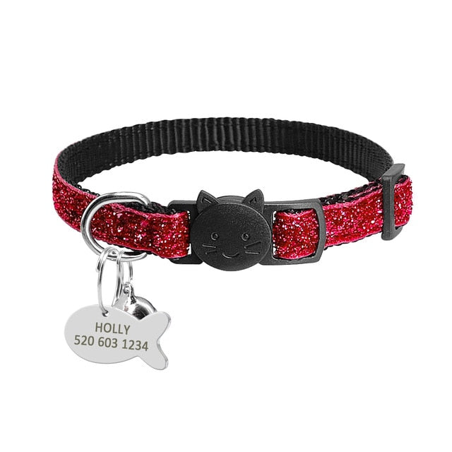 Safety Breakaway Cat Collars with Quick Release Bling Red / neck for 20 to 31cm | CatToyz.com | Shop Cat Toys, Clothes, and Grooming Supplies
