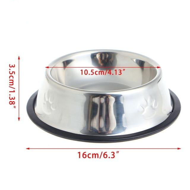 Stainless Steel Food & Water Bowls Small | CatToyz.com | Shop Cat Toys, Clothes, and Grooming Supplies