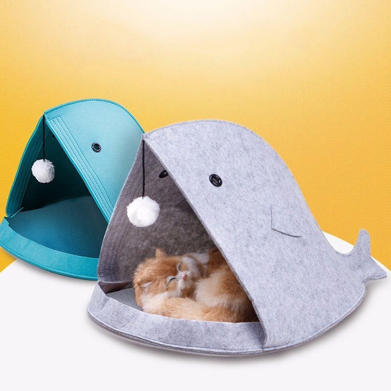 Whale of a Tale Felt Cat Beds  | CatToyz.com | Shop Cat Toys, Clothes, and Grooming Supplies