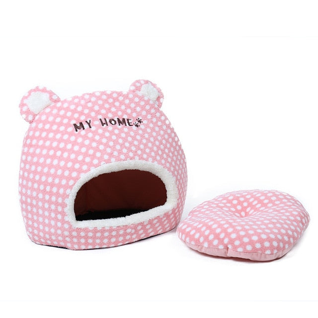 """My Home Zzz"" Warm Cat House with Removable Cushion pink / L / China 