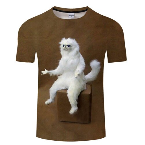 Funny Galaxy 3D Cat Printed T-shirts Walking Upright / S | CatToyz.com | Shop Cat Toys, Clothes, and Grooming Supplies