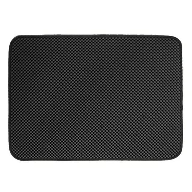 Cat Litter Mat with Honeycomb Design Traps Litter Black / S 40x50cm | CatToyz.com | Shop Cat Toys, Clothes, and Grooming Supplies
