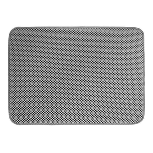 Cat Litter Mat with Honeycomb Design Traps Litter Gray / M 46x60cm | CatToyz.com | Shop Cat Toys, Clothes, and Grooming Supplies