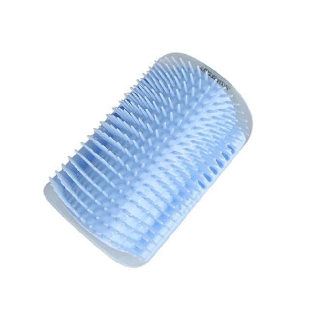 1-Self Massaging Brush Attaches Easily to a Corner Sky blue / M | CatToyz.com | Shop Cat Toys, Clothes, and Grooming Supplies