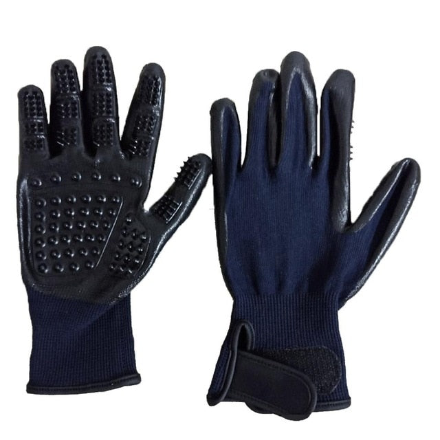 1-Cat Hair Removal & Bathing Gloves Blue / M | CatToyz.com | Shop Cat Toys, Clothes, and Grooming Supplies
