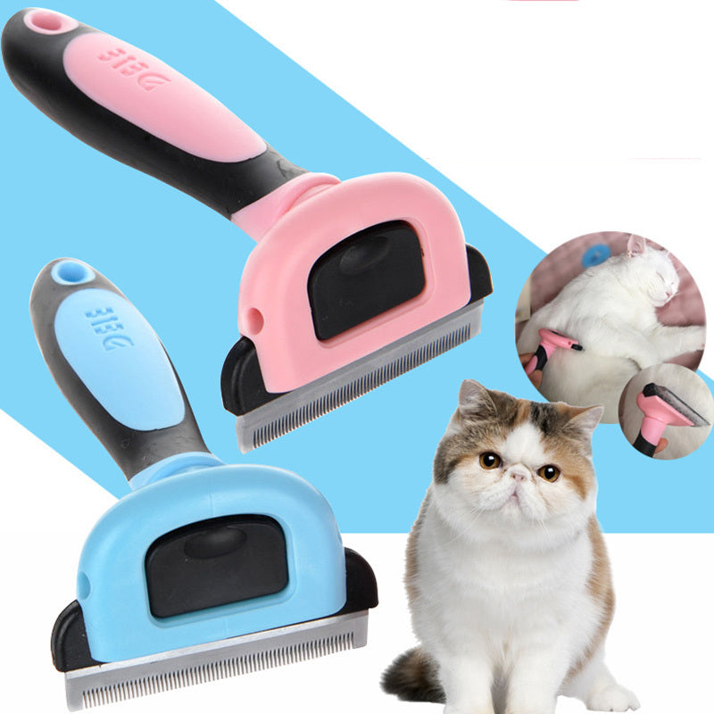 Hair Removal Comb for Cats in Pink or Blue  | CatToyz.com | Shop Cat Toys, Clothes, and Grooming Supplies