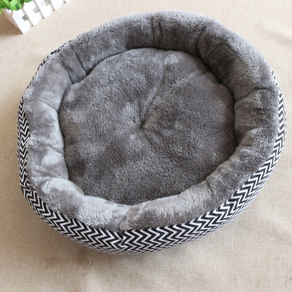 Round, Soft, Plush Cat Bed  | CatToyz.com | Shop Cat Toys, Clothes, and Grooming Supplies