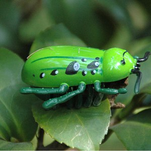 Battery Powered Mini Toys For Cats - 4 Designs Green Beetle | CatToyz.com | Shop Cat Toys, Clothes, and Grooming Supplies
