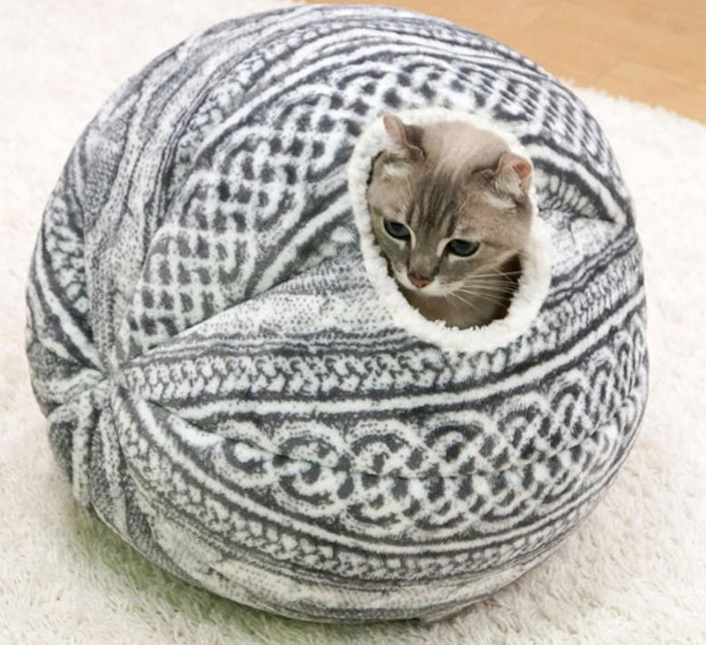 Spherical Cat House with Round Opening  | CatToyz.com | Shop Cat Toys, Clothes, and Grooming Supplies