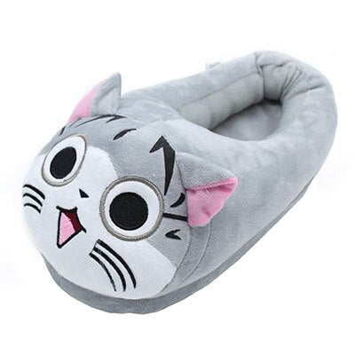 Ladies Plush Soft Cat House Slippers! Sizes 8 thru 11 Gray / 9 | CatToyz.com | Shop Cat Toys, Clothes, and Grooming Supplies