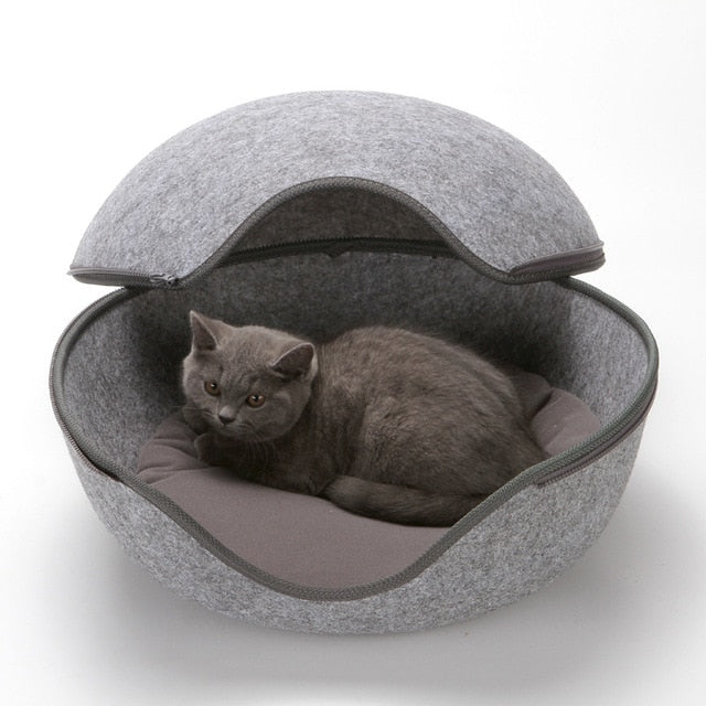 Easy Open Cat Bed Cat with Zipper for Easy Access 50x45x31cm | CatToyz.com | Shop Cat Toys, Clothes, and Grooming Supplies