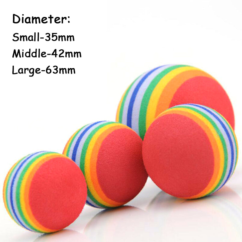 Rainbow Cat Toy Ball Great for Chewing! 3 Sizes  | CatToyz.com | Shop Cat Toys, Clothes, and Grooming Supplies
