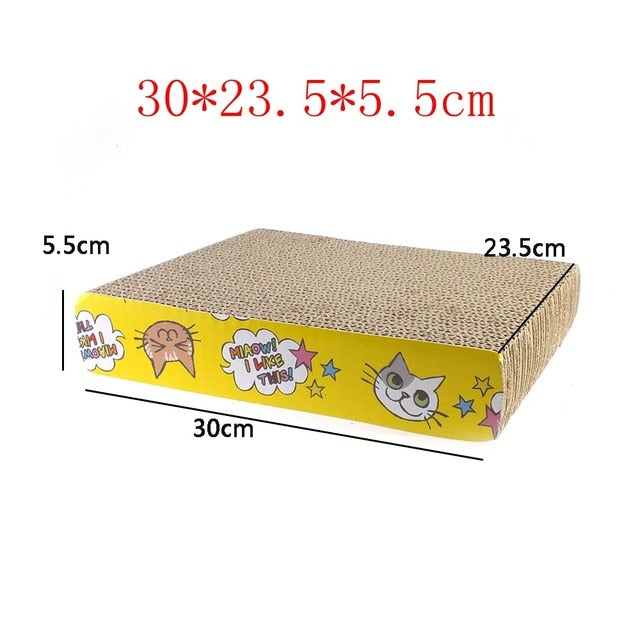 Catnip Infused Corrugated Paper Cat Scratcher LY0006 / As Pictured | CatToyz.com | Shop Cat Toys, Clothes, and Grooming Supplies