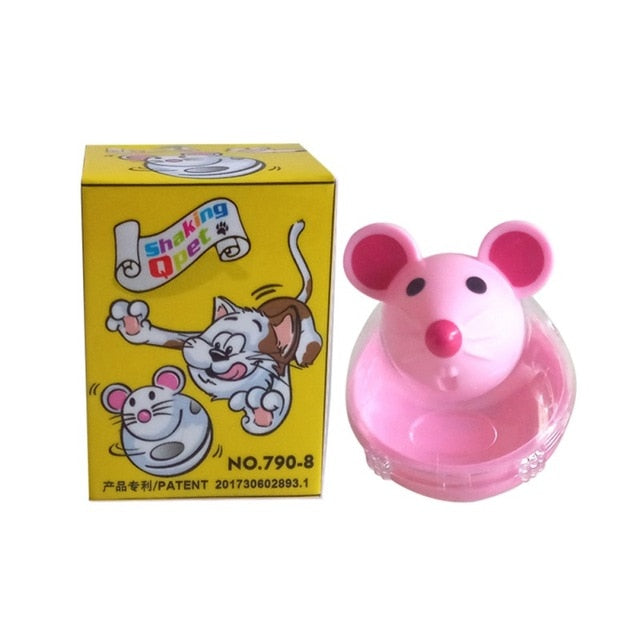 Mouse Shaped Cat Food Dispenser Pink | CatToyz.com | Shop Cat Toys, Clothes, and Grooming Supplies
