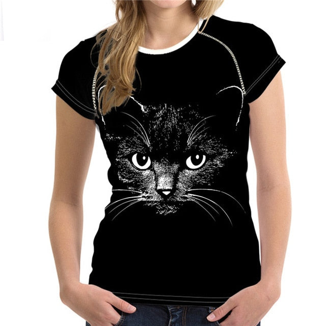 3D Cat T-Shirt for Women Several Styles to Choose From Captivating / S | CatToyz.com | Shop Cat Toys, Clothes, and Grooming Supplies