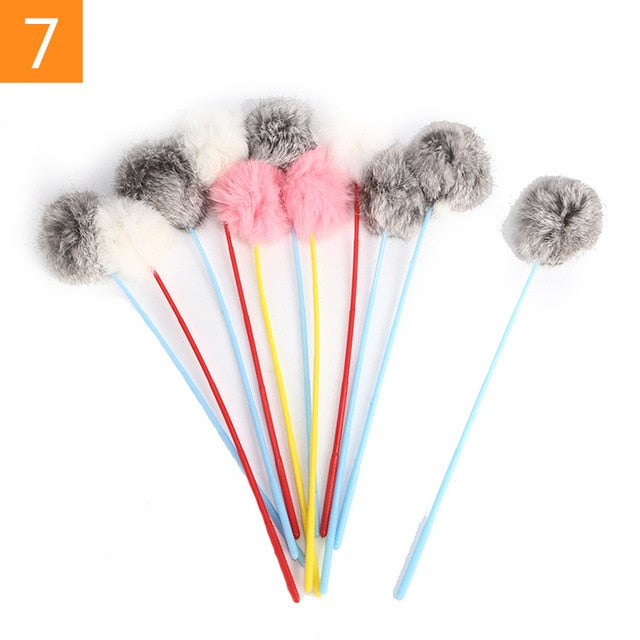 Teaser Feather Toys 7 / Random Color (1PC) | CatToyz.com | Shop Cat Toys, Clothes, and Grooming Supplies