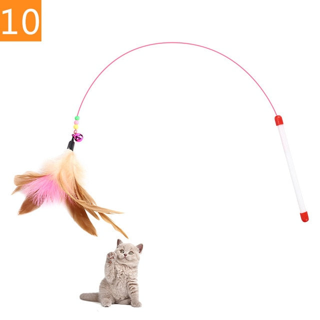 Teaser Feather Toys 10 / Random Color (1PC) | CatToyz.com | Shop Cat Toys, Clothes, and Grooming Supplies