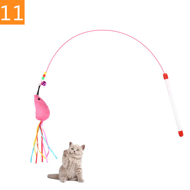 Teaser Feather Toys 11 / Random Color (1PC) | CatToyz.com | Shop Cat Toys, Clothes, and Grooming Supplies