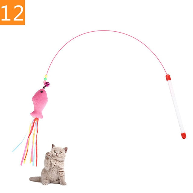 Teaser Feather Toys 12 / Random Color (1PC) | CatToyz.com | Shop Cat Toys, Clothes, and Grooming Supplies