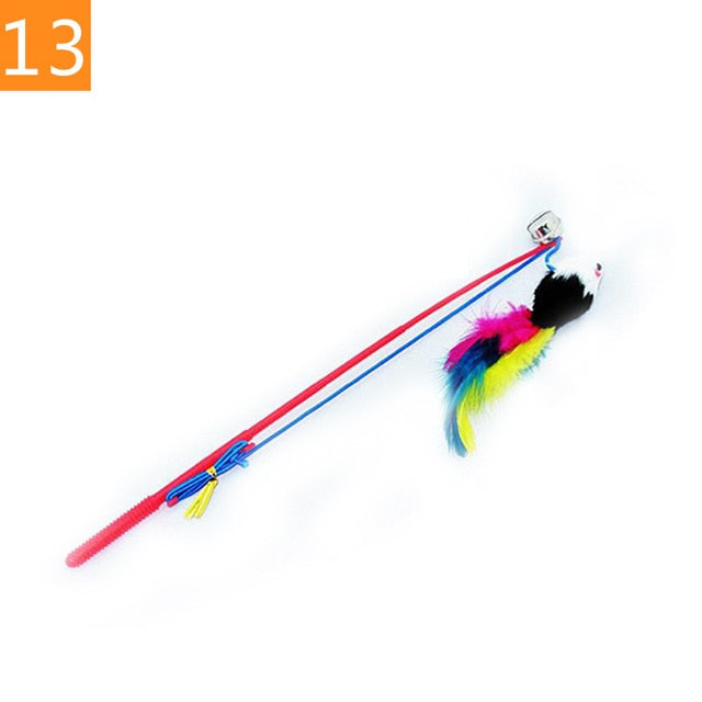 Teaser Feather Toys 13 / Random Color (1PC) | CatToyz.com | Shop Cat Toys, Clothes, and Grooming Supplies