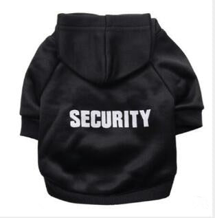 "Cat ""Security"" Hoodie! Let Those Rats Know Who The Boss Is! Black Security / L 