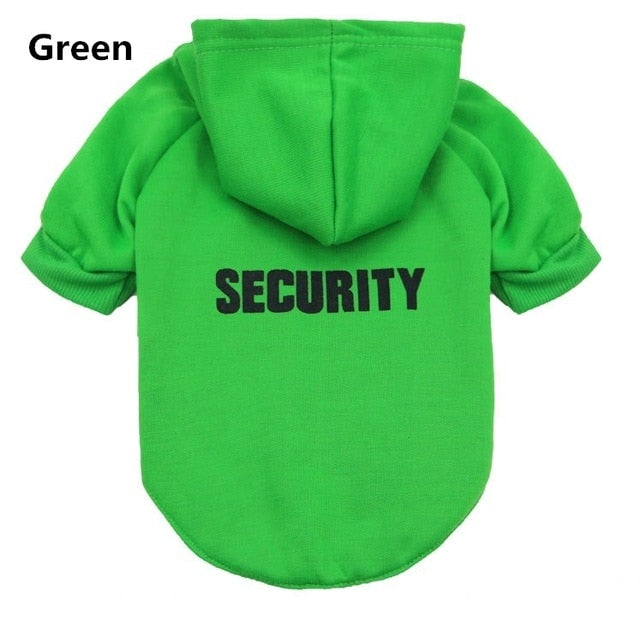 "Cat ""Security"" Hoodie! Let Those Rats Know Who The Boss Is! Green / M 