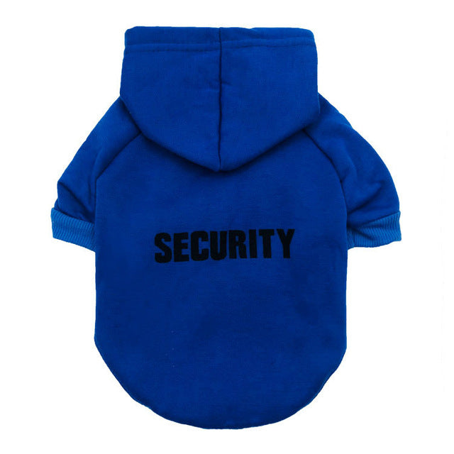 "Cat ""Security"" Hoodie! Let Those Rats Know Who The Boss Is! Blue / M 