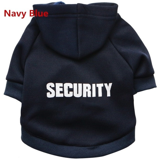 "Cat ""Security"" Hoodie! Let Those Rats Know Who The Boss Is! Navy Blue / M 