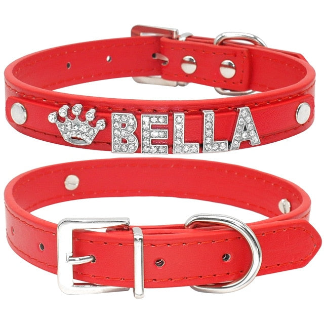 Personalized Rhinestone Cat Collar Plain Red / S | CatToyz.com | Shop Cat Toys, Clothes, and Grooming Supplies