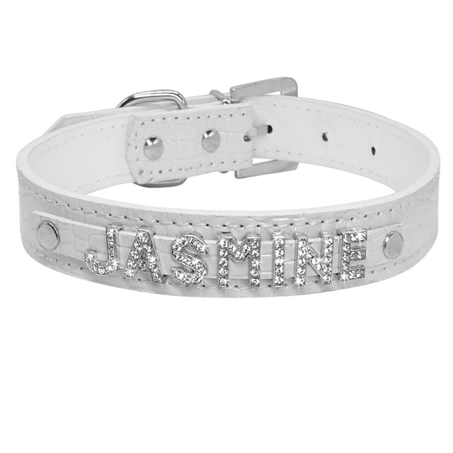 Personalized Rhinestone Cat Collar Croc   white / S | CatToyz.com | Shop Cat Toys, Clothes, and Grooming Supplies