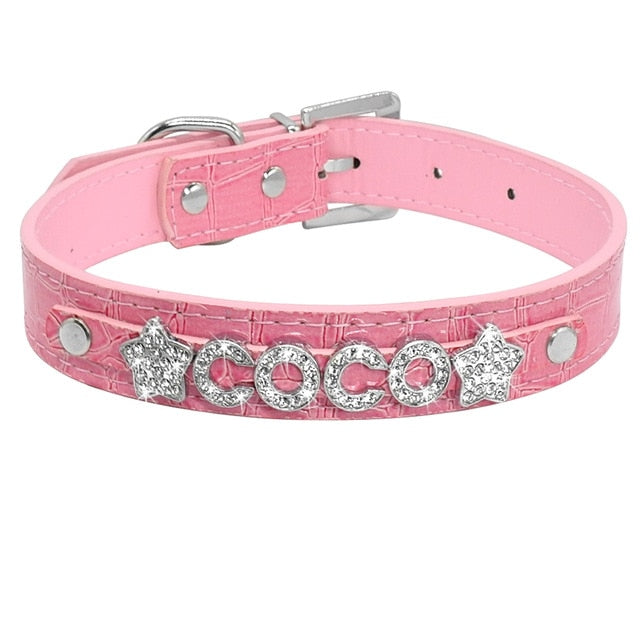 Personalized Rhinestone Cat Collar Croc  Pink / S | CatToyz.com | Shop Cat Toys, Clothes, and Grooming Supplies