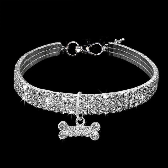 Rhinestone Cat Collar - Gorgeous! White / L | CatToyz.com | Shop Cat Toys, Clothes, and Grooming Supplies