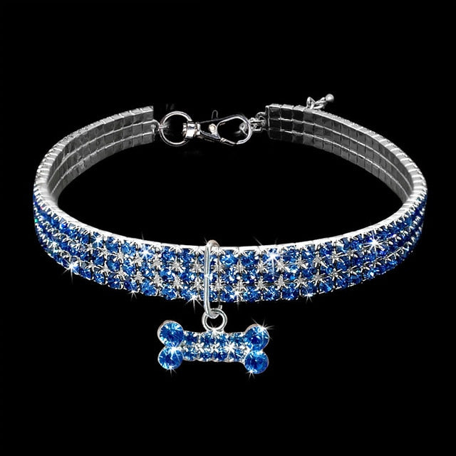 Rhinestone Cat Collar - Gorgeous! Blue / L | CatToyz.com | Shop Cat Toys, Clothes, and Grooming Supplies