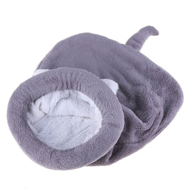 Fleece Sleeping Bag Cat Bed Gray / 65 X 55cm | CatToyz.com | Shop Cat Toys, Clothes, and Grooming Supplies
