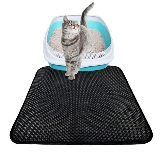 EVA Double-Layer Cat Litter Mat Black / 45x30cm / China | CatToyz.com | Shop Cat Toys, Clothes, and Grooming Supplies